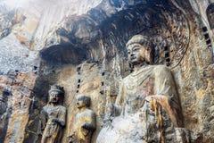 Grutas da Buda de Longmen em Luoyang, China Foto de Stock