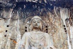 Grutas da Buda de Longmen em Luoyang, China Fotografia de Stock Royalty Free
