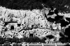 Grutas de Longmen, ¼ ŒChina de ŒAsiaï del ¼ de Luoyang, Henan Provinceï Imagenes de archivo