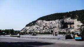 Grutas de Longmen, ¼ ŒChina de ŒAsiaï del ¼ de Luoyang, Henan Provinceï Foto de archivo