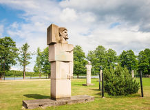 Grutas Park. The monuments of the Soviet period. Lithuania Royalty Free Stock Photography