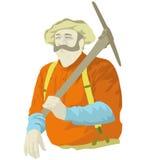 gruvarbetare stock illustrationer