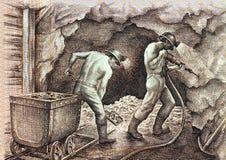 gruvarbetare Arkivbild