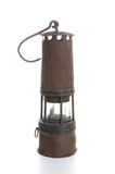 Gruvarbetares lampa Arkivbild