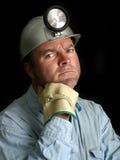 gruvarbetarestående för 2 kol Arkivfoton