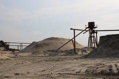 Gruvbolag för sand för sandvillebrådväxt sanden till och med en grundläggande workflow royaltyfria bilder