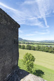 Gruyères village fortification walls Royalty Free Stock Photo