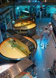 Gruyere cheese processing Stock Image