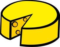 Gruyere cheese vector illustration. Vector illustration of a gruyere cheese Royalty Free Stock Image
