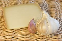 garlic and cheese Royalty Free Stock Photo
