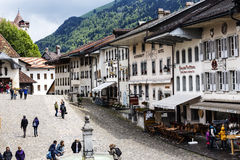 Gruyere historic Alpine city Stock Photography