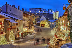 Christmas in Gruyere, Switzerland Royalty Free Stock Photos