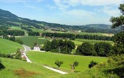 Gruyereregion von der Schweiz Lizenzfreies Stockfoto