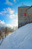 Gruyeres中世纪城堡在瑞士 免版税库存图片