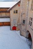 Gruyeres历史中世纪城堡在瑞士 免版税库存照片