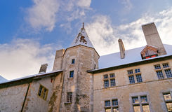 Gruyeres城堡的外部在瑞士 免版税图库摄影