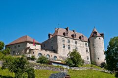 Gruyeres城堡 免版税图库摄影