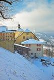 Gruyeres瑞士村庄  库存照片