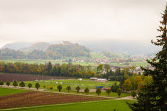 gruyeres瑞士 免版税库存图片
