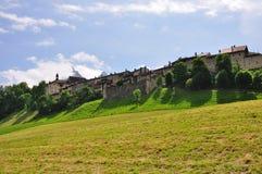 gruyeres老瑞士城镇 库存图片