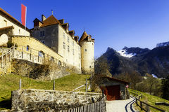 Gruyeres castle, Switzerland Royalty Free Stock Photo