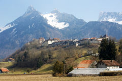 Gruyeres castle Royalty Free Stock Images