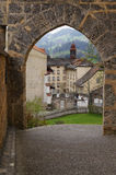 Gruyeres - cidade medieval no cantão de Fribourg, Suíça fotos de stock royalty free