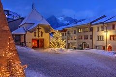 Gruyeres, die Schweiz Lizenzfreie Stockbilder