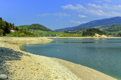 Gruyeres lake in summer, Fribourg canton, Switzerland Stock Images