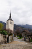 Gruyeres - medieval town in canton of Fribourg, Switzerland. Royalty Free Stock Photography