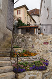 Gruyeres - medieval town in canton of Fribourg Stock Image