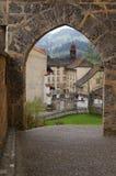 Gruyeres - mittelalterliche Stadt im Kanton Freiburg, die Schweiz lizenzfreie stockfotos