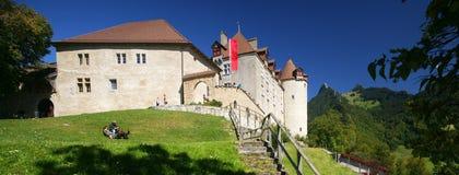 Gruyeres Schloss lizenzfreie stockfotos