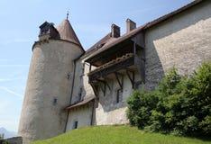 Gruyeres Schloss stockbild