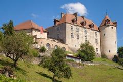Gruyeres slott Royaltyfri Fotografi