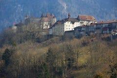Gruyeres slott Arkivbild
