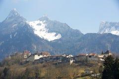 Gruyeres slott Arkivbilder