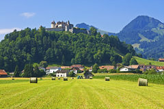 gruyeres switzerland Royaltyfri Foto