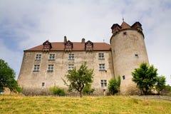 gruyeres switzerland för cantonslottfribourg Arkivbild
