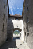 Gruyères village fortification walls Royalty Free Stock Photos