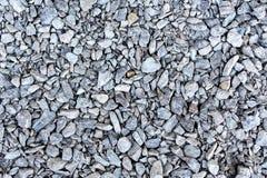 Gruzów otoczaków nawierzchniowi szarzy kamienie Fotografia Stock