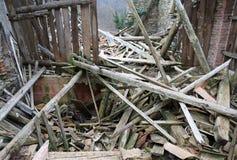 Gruz i ruiny dom niszczący potężnym earthqu Zdjęcie Royalty Free