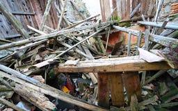 Gruz i ruiny dom niszczący potężnym earthqu Fotografia Royalty Free