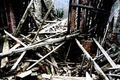 Gruz i ruiny dom niszczący potężnym earthqu Fotografia Stock