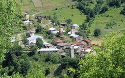 Gruzińska wioska Zdjęcia Stock