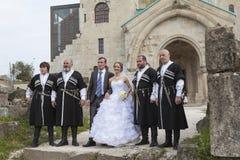 Gruziński ślub Zdjęcia Royalty Free