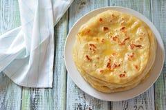 Gruziński khachapuri płaski tort z serem Zdjęcie Stock