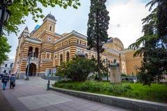 Gruzińska Krajowa opera i Baletniczy teatr która budowali w 1851 i Zdjęcie Stock