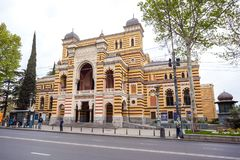 13 04 2018 - Gruzińska Krajowa opera i Baletniczy teatr który bu Obraz Stock