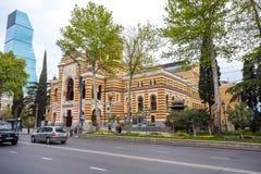 13 04 2018 - Gruzińska Krajowa opera i Baletniczy teatr który bu Zdjęcia Royalty Free